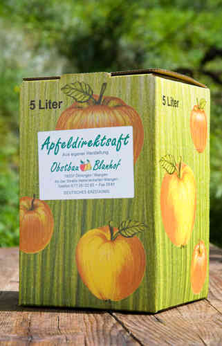 "Apfeldirektsaft 5L ""Bag-In-Box"""